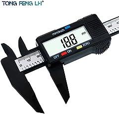 Universalmart LCD Digital Electronic Carbon Fiber Vernier Caliper Gauge Micrometer-150mm 6inch