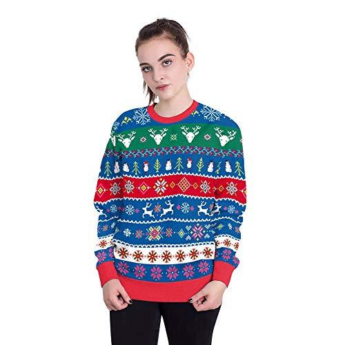 SHUAIFA Christmas Tree - Xmas Gift Idea Womens Sweatshirt Crew Neck Sweatshirt 051 S