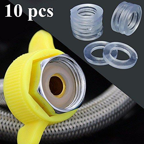 Doradus 10pcs Transparent 1/2 Zoll Rubber Brauseschlauch Unterlegscheiben Ringe für Schlauchrohr Badeleiter