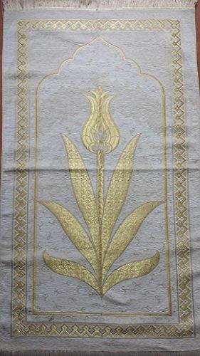 Elegant Entworfene Hohe Qualität Gebet Matte Teppiche Sejadah Sajadah Gebetsteppich Seccade Sejjada Islam Mekka Namazlik Orientteppich 110 x 70 cm (100% Seide) - Islam-teppich