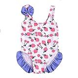 Sunday Baby Mädchen Badebekleidung Tankini Bikini Einteiler Badeanzug Schwimmanzug Bademode Spielanzug Schwimmanzug (6-12 Monate, Weiß)