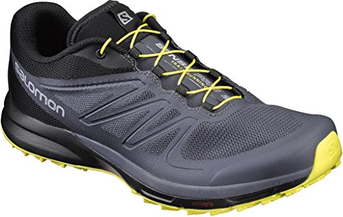 Salomon - Sense Pro - Sneaker, homme Ombre Blue/Black/Blazing Yellow