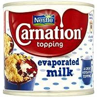 Nestle la leche evaporada Carnation Topping 12 x 170gm