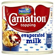 Nestle la leche evaporada Carnation Topping 12 x 170gm