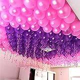 Evisha Birthday Latex Balloon, Pack Of 50, Purple And Pink