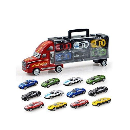 ansport Auto Carrier Truck Jungen Spielzeug (einschliesslich Legierung 12 Autos) fuer Kinder Kinder ()