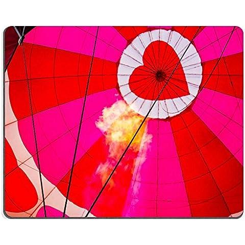 MSD-Tappetino per mouse in gomma naturale, gioco ID 31166324 immagine: visualizzazione della parte superiore del cuore mongolfiera durante il gonfiaggio con fiamma in cestino