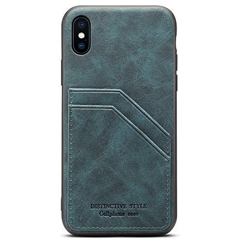 Schutzhülle für iPhone XR / 10R, 15,1 Zoll (15,1 Zoll), schlankes PU-Leder, Kreditkartenfach für Apple iPhone XR/iPhone 10R (2018), Cadet Blue -
