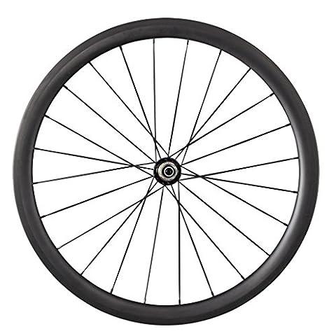 IMUST 700c Carbon Laufrad Höhe 38mm Schlauchreifen Tubular Felge für Rennrad CN Speichen Felgebreite 23mm Hinterrad 24 Löcher