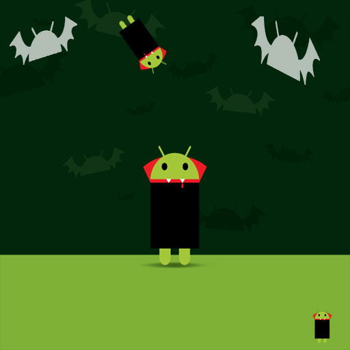 Live Wallpaper - DroidOWeen - Android Vampire (Wallpaper Droid Live Halloween)
