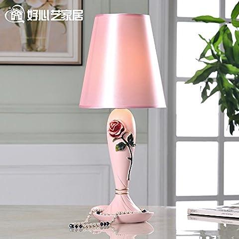 SAEJJ-lampe en tissu de luxe européenne moderne lit chambre à coucher décoration mariage vogue Calla Lily , interrupteur bouton