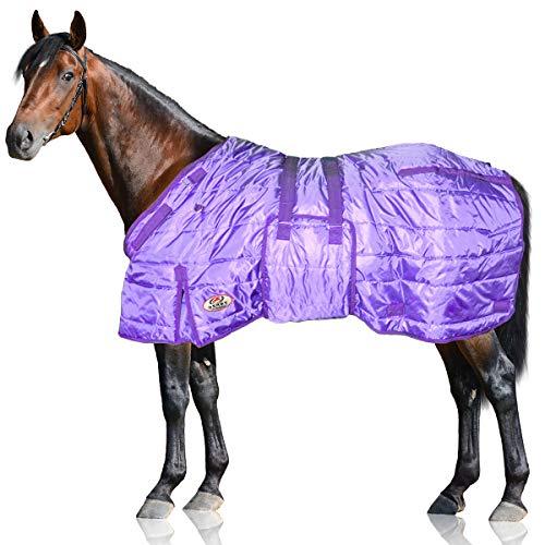 Derby Originals 420D Pferde-Stalldecke Windstorm Serie 200g Polyfil 203,8 cm lila mit violetten Rändern