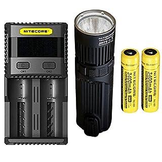 Combo: Nitecore SRT9 Flashlight -2150 Lumens w/2x NL189 Battery & SC2 Charger