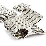 Sunsline 10PCS Rostfreier Stahl Handtuchklammer Kleider Hängend Wäscheklammer Clothespin