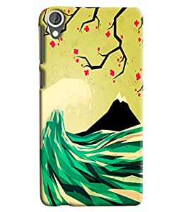 Blue Throat Montain Scenery Printed Designer Back Cover/ Case For HTC Desire 820
