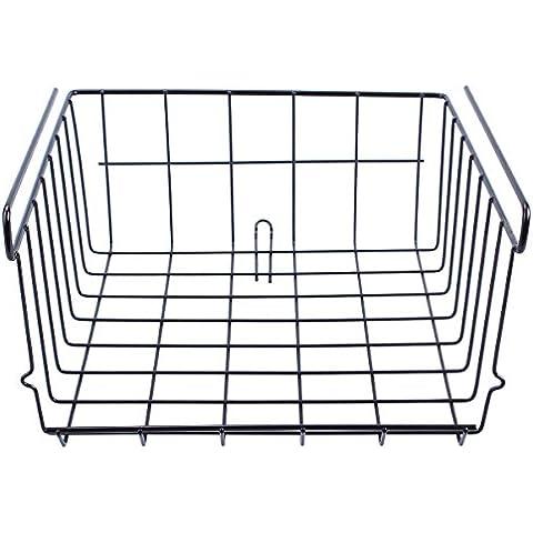30* 29.5* 12.5cm Wire Under Cabinet Cestino appeso ripiani Organizer porta nero