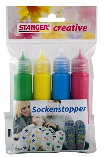 Stanger 900006 Creative Sockenstopper Set, Grün/ Gelb/ Blau/ Rot