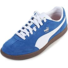 Puma Men's La Liga Suede Lace Up Trainer Olympian Blue / White-Blue-8 Size 8