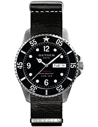 University Sports Press EX-D-MOB-44-NL-BL - Reloj de cuarzo unisex, correa de cuero color negro