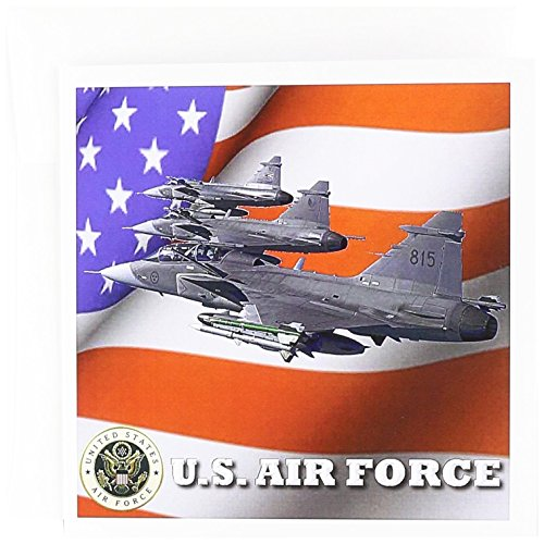 United States Air Force – Grußkarte, 15,2 x 15,2 cm, Single (GC 61135 – _ 5)