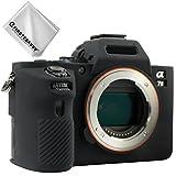 First2savvv schwarz TPU Gummi Ganzkörper- präzise Passform Kameratasche Fall Tasche Cover für Sony ILCE Alpha a7 II a7R II a7S II .A7M2 - XJPT-A7II-GJ-01G11