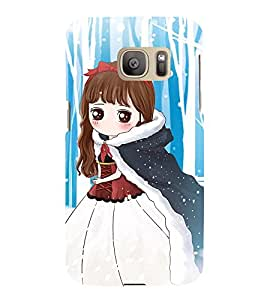 Cute Girl 3D Hard Polycarbonate Designer Back Case Cover for Samsung Galaxy S7 :: Samsung Galaxy S7 G930F :: Samsung Galaxy S7 Duos G930FD