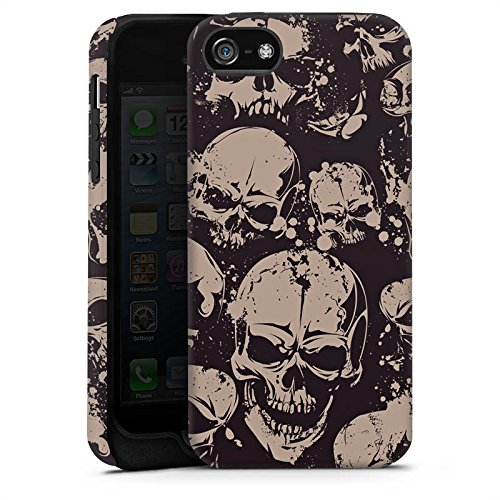 Apple iPhone X Silikon Hülle Case Schutzhülle Skull Böse Gothic Tough Case matt