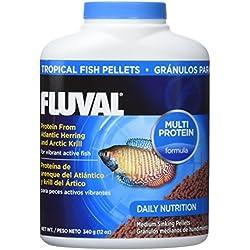Fluval Comida en Gránulos para Peces Tropicales - 340 gr / 750 ML