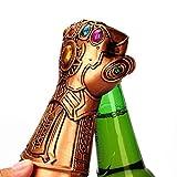 Thanos - Apribottiglie a forma di guanto di Thanos, apribottiglie a forma di guanto con simbolo dell'infinito della Marvel The Avengers 4: Endgame Beer Wine Bottle Cap Opener