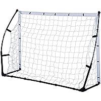 Homcom Portería de Fútbol Portátil para Niños y Adultos con Marco de Acero y Bolsa de Transporte 183x50x122cm