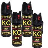 BALLISTOL Verteidigungsspray Pfeffer KO Jet 4 Dosen mit je 50 ml Pfefferspray bis zu 5 m Reichweite