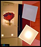 LED Design Warmweiß SUN-LED Max 3W 100x100mm Glas-Alu Hochwertig Treppenlicht Wand Stufen Treppen Beleuchtung