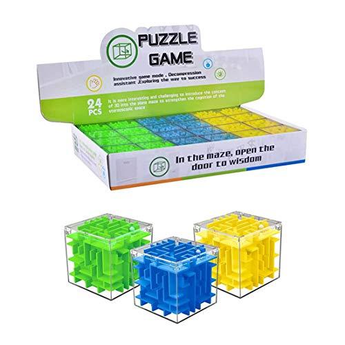 (MRKE Knobelspiele, 24 Stück Adventskalender Kinder, 3D Puzzle, Matze Rollen Ball Balance Puzzle-Spiel Geschenk Kinder Dekompressionsspielzeug)