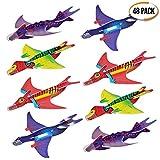 48 Avions Planeurs Dinosaure Assembler - Cadeau Aux Invités, Anniversaire Pochettes-Surprise Et Piñatas Enfant, Récompenses à L'école, Jouet Styrol Avions - Pour Les Amateurs D'aéronautique