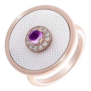 Orphelia Damen-Ringe Silber 925 Rosé-vergoldet Perlmutt zirkonia ZR-7293