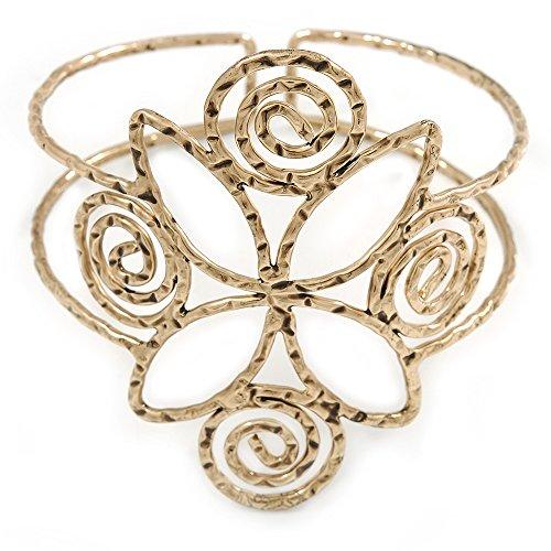 Ägyptischer Stil Twirl Oberarm, Armbinde Armband in, antik gold-Plating–verstellbar