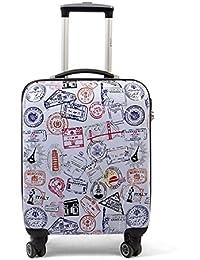 MasterGear Design Koffer, Reisekoffer 4 Rollen (360 Grad) , Trolley, Kofferset, Hartschalenkoffer , ABS Koffer Hartschale mit Zahlenschloss, stapelbar, Größe: S, M & L