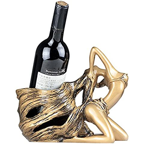 sogar Creative Home resina accesorio de soporte Beautiful Lady diseño de vino rojo vino rack adornos decoración, 2colores