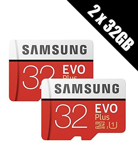 2x Samsung Speicher Evo Plus 32GB Micro SDHC Card 95MB/s UHS-I U1Class 10mit Adapter (Multipack von 2Karten und Adapter)