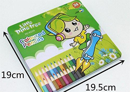 BrillantFarben Wachsmalstifte 24Pcs professionelle Kunst Buntstifte für Erwachsene und Kinder deal für alle Kinder Schulen Kinderzimmer Restaura