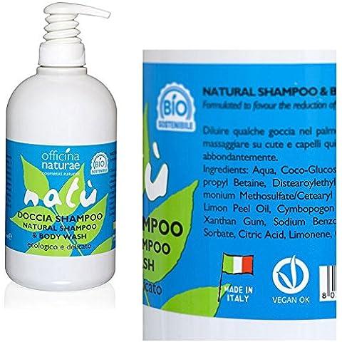 Doccia Shampoo Natù con Dispenser, Officina Naturae, 500