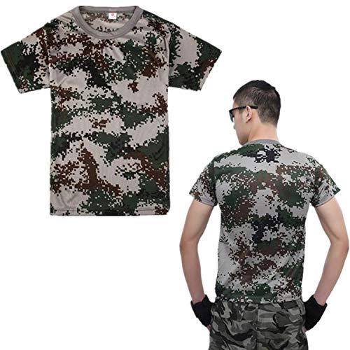 HANO Shirts im Freien Camouflage Kurzarm T-Shirt - Tarnung-fischen-shirt