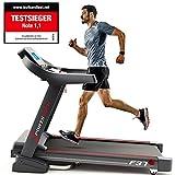 Sportstech TESTSIEGER F37 Profi Laufband 7PS bis 20 km/h, Selbstschmiersystem, Smartphone Fitness App, 15% Steigung, Bluetooth MP3, große Lauffläche mit 8 Zonen Dämpfungssystem bis 140 Kg - klappbar