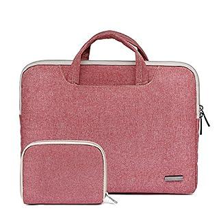 15,6 Zoll Laptop Tasche Handtasche Nylon Laptophülle Wasserdichte Laptop-Hülle für Macbook APro Retina/Ultrabook/ Netbook/ Tablet/ Laptop/ Ledertasche Hellrot