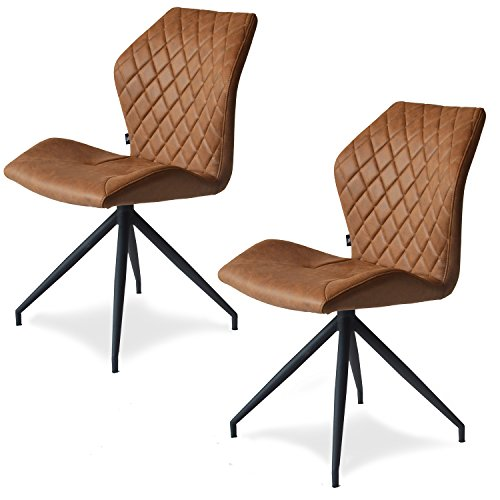 Rocky 2er set Design Stuhl mit Stoffbezug – Esszimmerstühle Stühle Designerstuhl