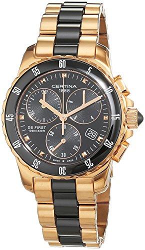 Certina Mesdames Montre chronographe à quartz en acier inoxydable c014,217,33,051,00XS