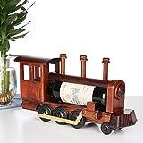 DZXM Weinregal Lagerung Weinkühler Massivholz Regal Persönlichkeit Display-Ständer Zug Dekoration Flaschenhalter