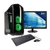 Sedatech Ultimate Gaming PC Paket Intel i5-8600K 6X 3.6GHz, Geforce GTX1070, 16GB RAM DDR4, 250GB SSD M.2 NVMe, 2TB HDD, WLAN, HDMI 2.0, 23.6