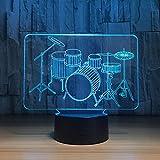Trommel stellte EIN buntes Lampenschlafzimmerbüro-Inneneinrichtungsschreibtischlampenkindernachtlicht