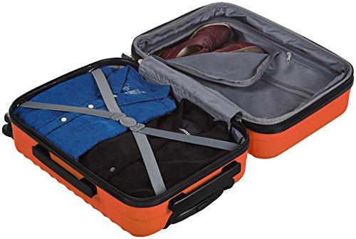 AmazonBasics Hartschalen-Trolley - 55 cm Kabinengröße, Orange - 6